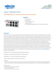 Tripp Lite ISOBAR6ULTRA Isobar Surge Suppressor ISOBAR6ULTRA User Manual