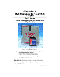 Delkin Devices MultiMedia Card to Floppy Disk Adapter User Manual