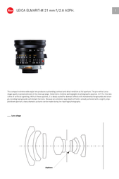 Leica Elmarit-M 21 mm f/2.8 11135 User Manual