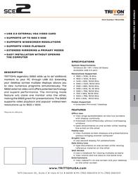 Tritton USB VGA Video Adapter TRI-UV100 Leaflet