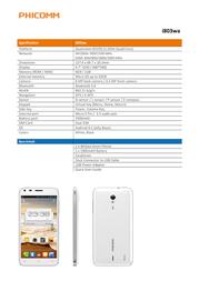 PHICOMM i803wa I803WA Leaflet