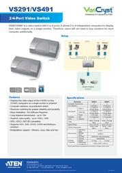 Aten VS491 Leaflet