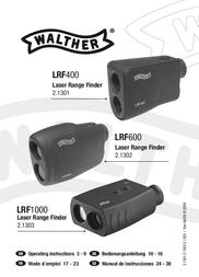 Walther Lrf 600 Laser Range Finder 2.1302 User Manual