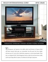 Bell'O AVSC-2061E Leaflet