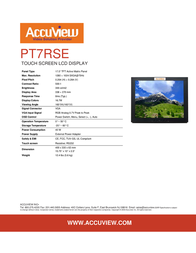 """Accuview 17"""" PT7RSE Leaflet"""