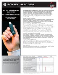 IronKey 4GB D200 MLC Basic D2-D200-S04-3FIPS Leaflet