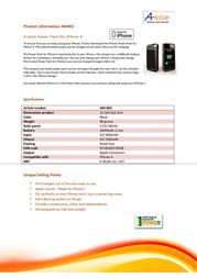 Xtorm AM403 Leaflet