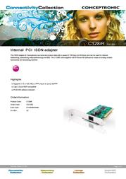 Conceptronic 128 KBPS (2X64 KBPS) PCI I C02-002 Leaflet