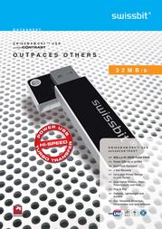 SwissBit USB 2.0 Stick 4GB UnitedCONTRAST 402035 Data Sheet