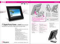 "Aluratek 7"" Digital Photo Frame w/ 256MB Memory Included ADMPF107 Leaflet"