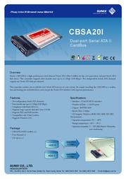 Sunix CBSA20I Leaflet