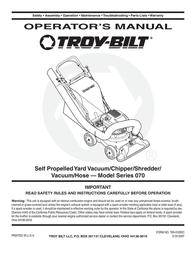 Troy-Bilt 70 User Manual
