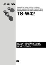 Aiwa TS-W42 U User Manual