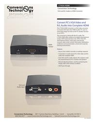 Conversions Technology CTVGA-HDMI Leaflet