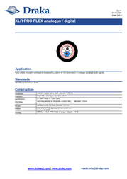 Draka 1018270 Speaker Cable, , Black Sheath 1018270 Data Sheet