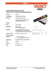Ehmann 583127. Vario Linea 6-Way Molding 0200c01062218-9 Data Sheet
