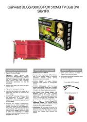 Gainward BP7600GS PCX 512 DD 471846200-8040 Leaflet