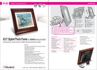 "Aluratek 10.5"" Digital Photo Frame w/ 256MB Memory Included ADMPF110 Leaflet"