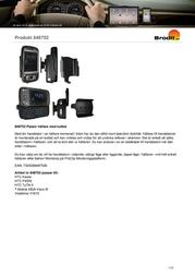 Brodit Passive Holder,Tilt Swivel 848752 Leaflet