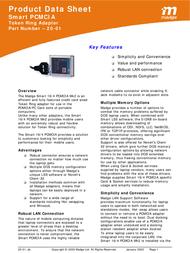Madge Smart 16/4 Mk2 PCMCIA Token Ring Adapter 20-01 Product Datasheet