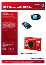 Difrnce MP-3 SPLER MP2000 2GB MP20002 Leaflet