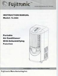 Fujitronic FA-9000 User Manual