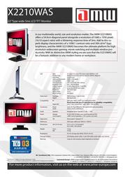 AMW X2210WAS Leaflet