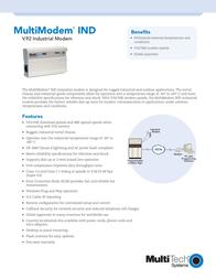 Multitech MultiModem IND V.92 Industrial Modem MT5634IND-EU Leaflet