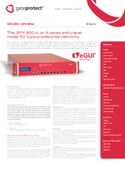 GateProtect GPX 800a GPX 800A Leaflet