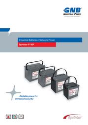 Gnb Sprinter P12V875, 12V Ah lead acid battery NAPW120875HP0MC NAPW120875HP0MC Data Sheet