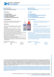 Kcl 5-minute epoxy-resin 200 g EPO5.S200 Data Sheet