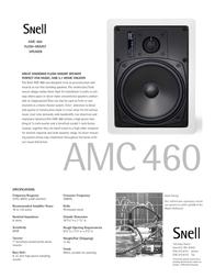 Snell Acoustics AMC 460 Leaflet