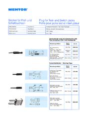 Mentor Jack plug STECKVERBINDER 1 pc(s) 2609.2221 Data Sheet