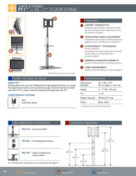 Chief Dual Display Floor stand PF2US Leaflet