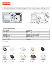 Franke CRX 651 CRX651DP Leaflet