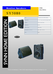 Limit SY5080 Synn speaker black SY5080 Leaflet