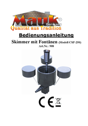 Mauk 908 Pool skimmer inclusive of pump and fountain Black 908 User Manual
