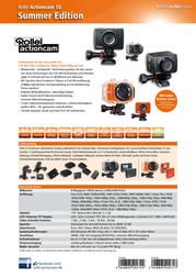 Rollei Actioncam Action Cam 5040272 Rollei 5S Summer Edition orange 5040272 Data Sheet