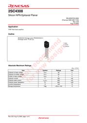 Renesas 2SC4308 User Manual