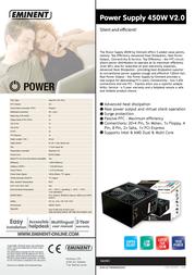 Eminent Power Supply 450W V2.0 EM3901 Leaflet