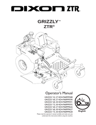 Dixon 27 KOH/968999590 User Manual