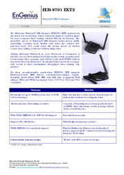EnGenius EUB-9701 EXT2 Wireless-N (Draft 802.11n) USB Adapter 710302GEUB9701E Leaflet