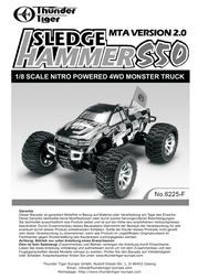 Thunder Tiger 1:8 RC model car Nitro Monster t 6225-F0103 User Manual