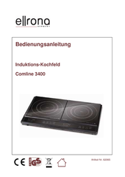 Ellrona Germany Twin induction hob with pot size recognition, Timer fuction Doppel-Induktionsplatte Comline 3400 62065 62065 Data Sheet