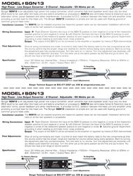 Stinger Adjustable Line Output Converter SGN13 Leaflet