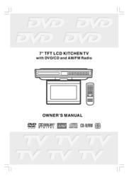 Venturer LCD Kitchen TV User Manual