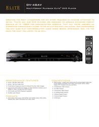 Elite DV-48AV Leaflet