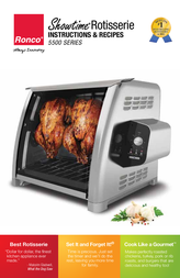 Ronco 5500 Stainless Rotisserie Oven Instruction Manual