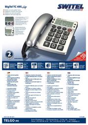 SWITEL BigTel TC 49S Clip BIGTEL TC49S Leaflet
