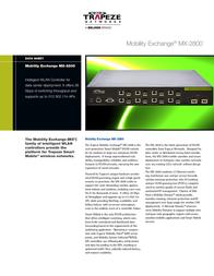 Trapeze Networks MX-2800 MX-2800-EU Data Sheet
